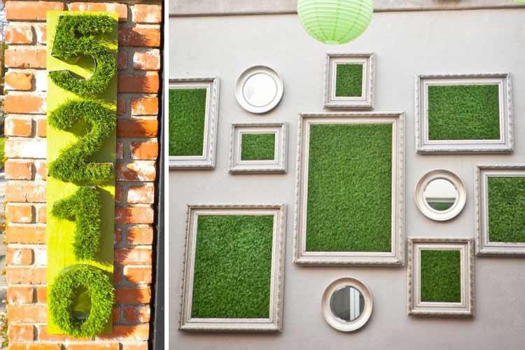 decoracion pared-cesped